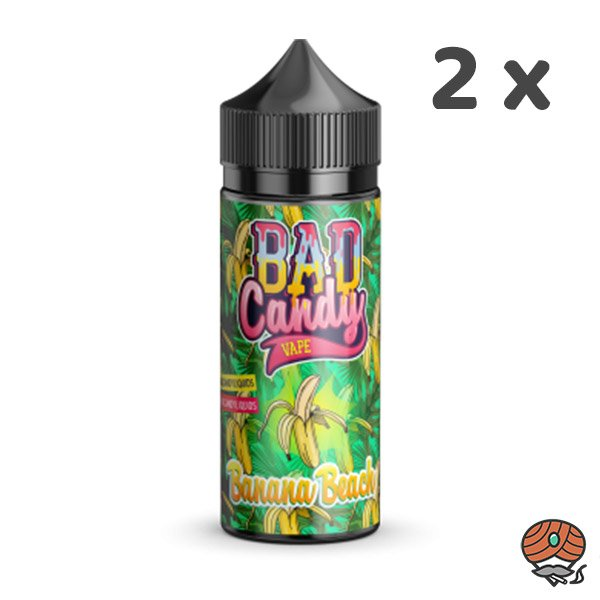 2 x BAD Candy Banana Beach Vape Aroma 20 ml Longfill E-Liquid / Liquids
