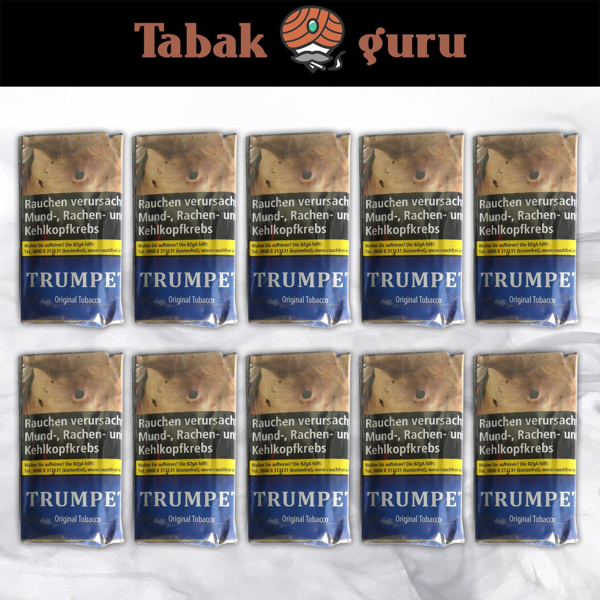 10 x Trumpet Original Tobacco Drehtabak à 38 g
