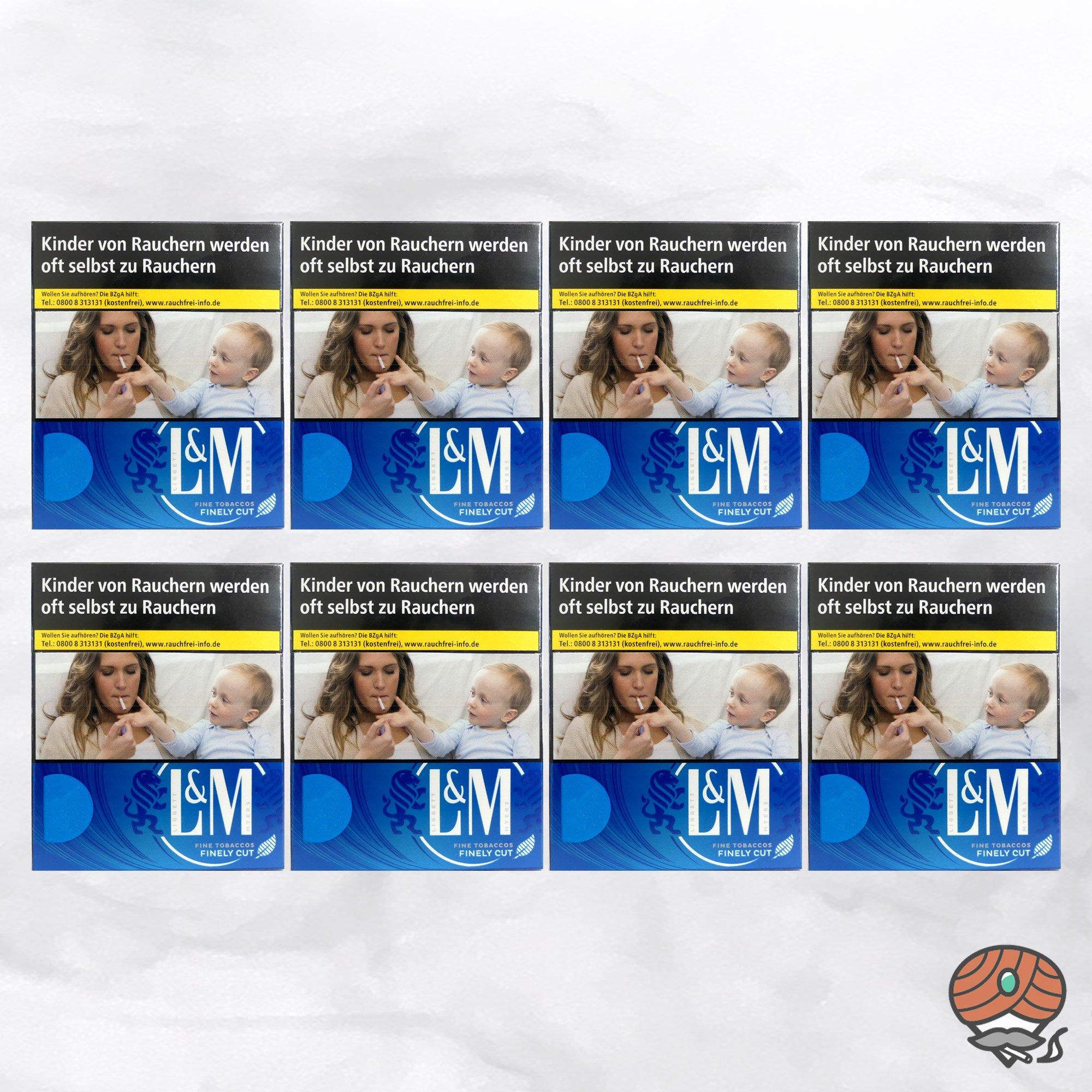 1 Stange L&M Blue Label XXXL Inhalt 8 x 34 Stück