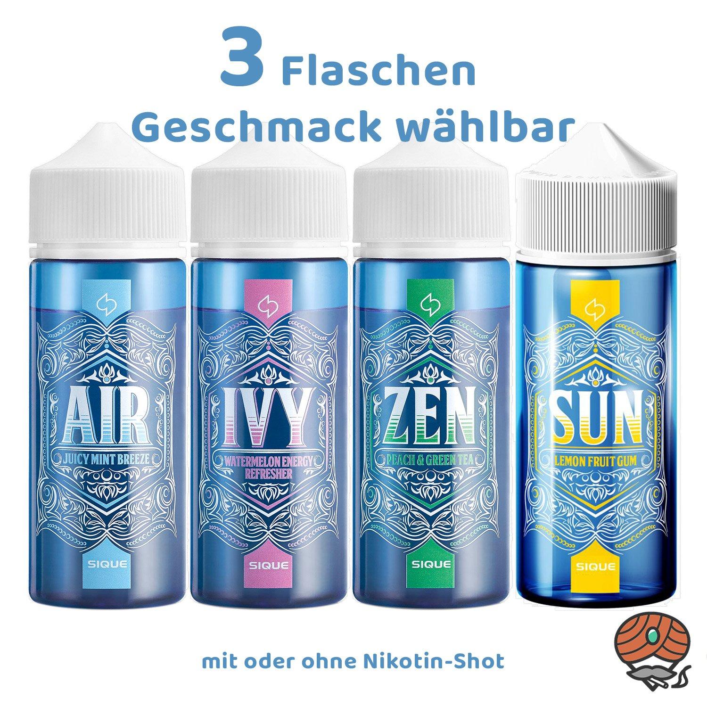 3x SIQUE Berlin alle Sorten á 100 ml mit oder ohne Shot erhältlich