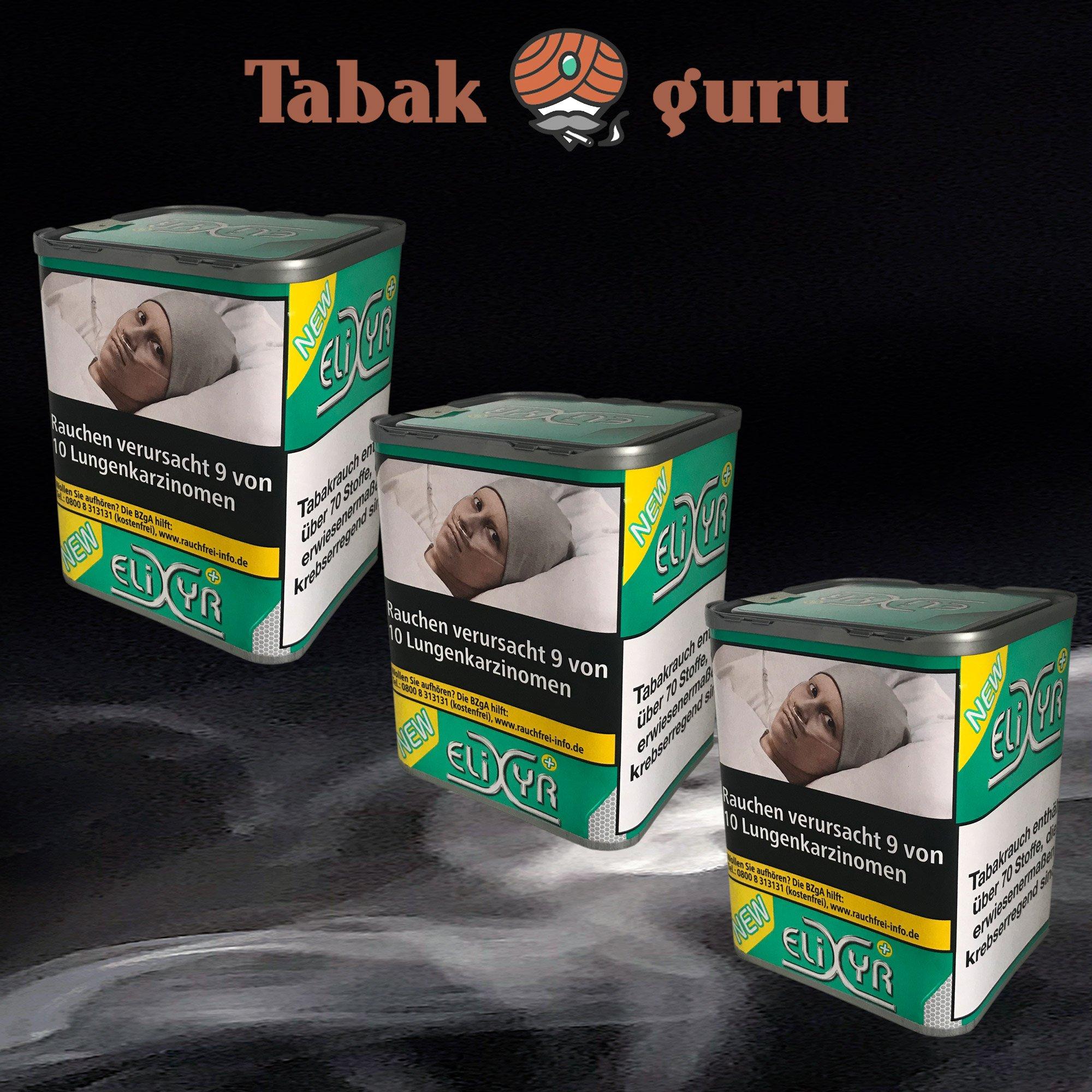 3 x Elixyr PLUS Tabak 115g Zigarettentabak