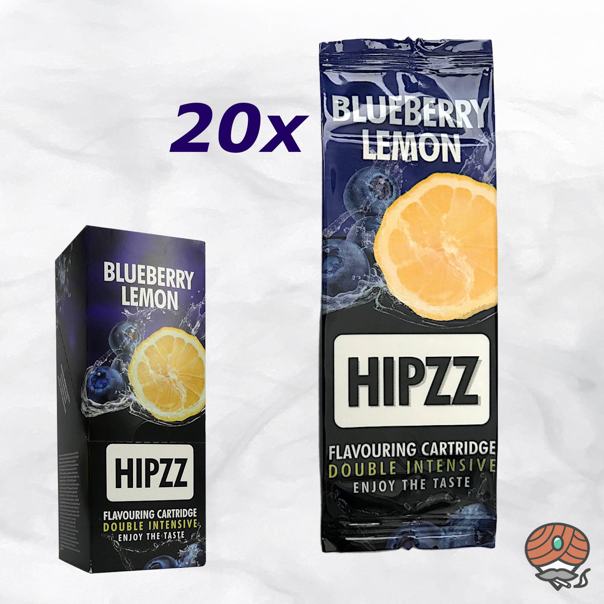 20 x Aromakarte HIPZZ (wie Rizla) BLUEBERRY LEMON - Aroma für Tabak
