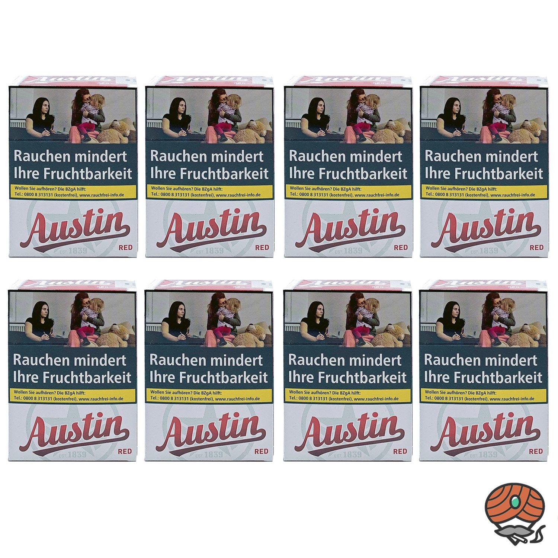 1 Stange Austin Red Original Zigaretten XL Schachtel 8x26 Stück