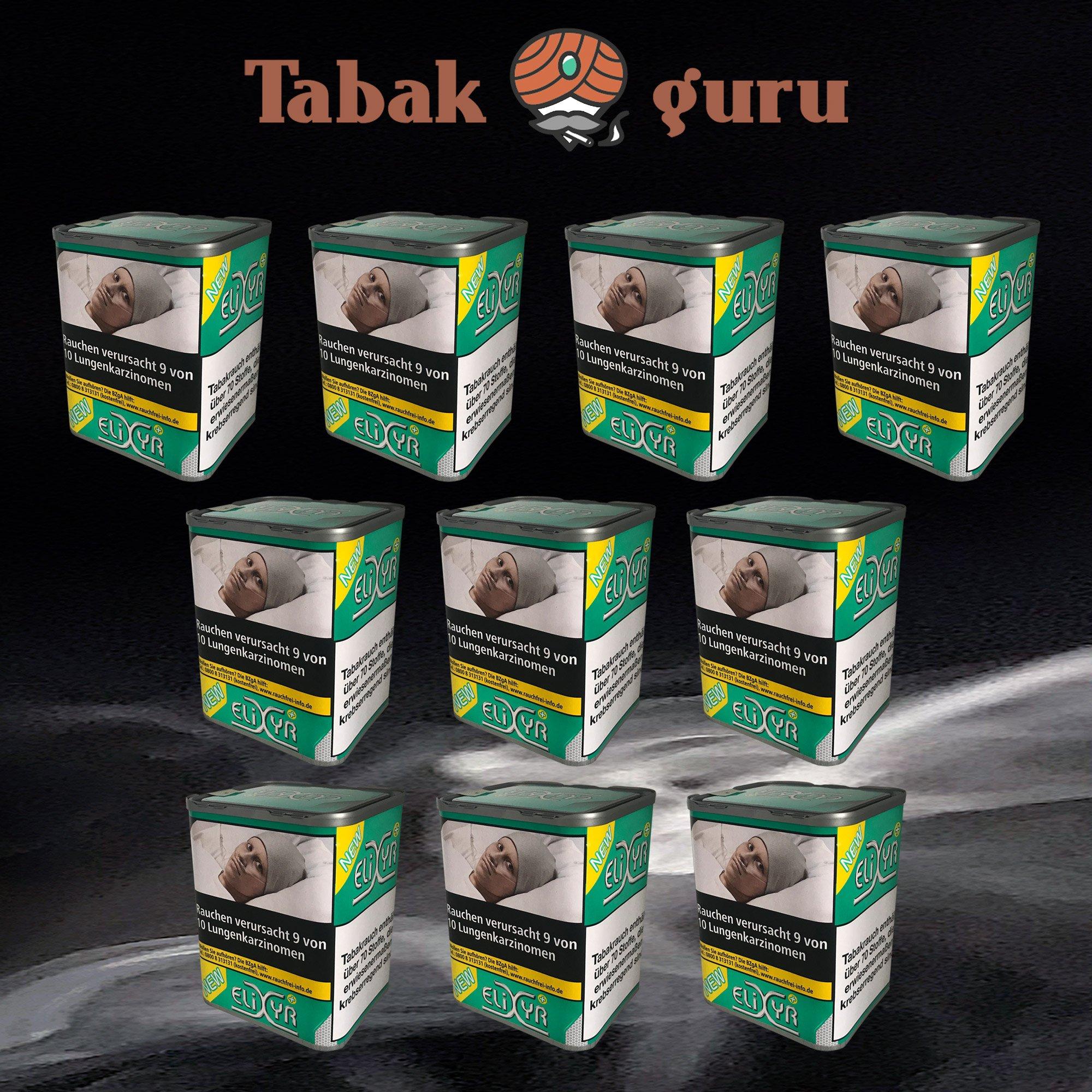 10 x Elixyr PLUS Tabak 115g Zigarettentabak