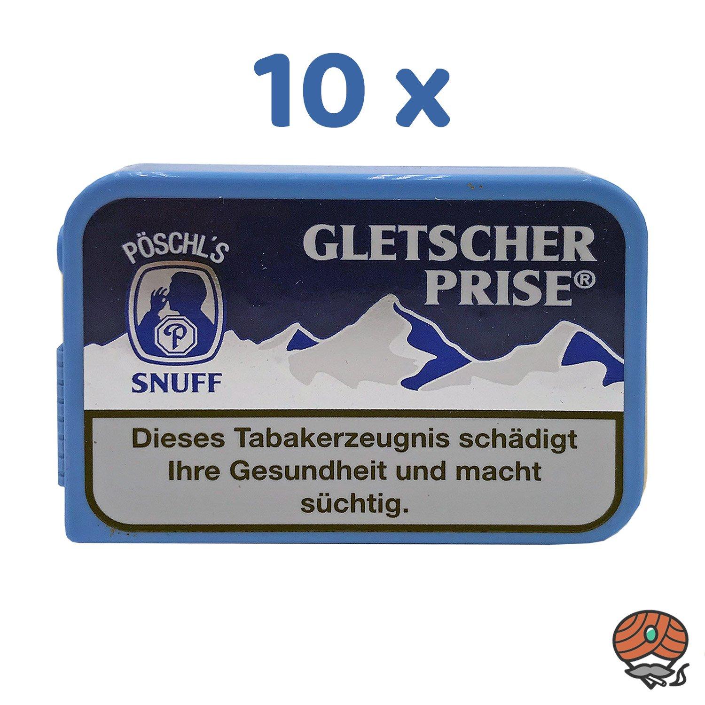 10 x Gletscherprise Snuff Schnupftabak Dose à 10g