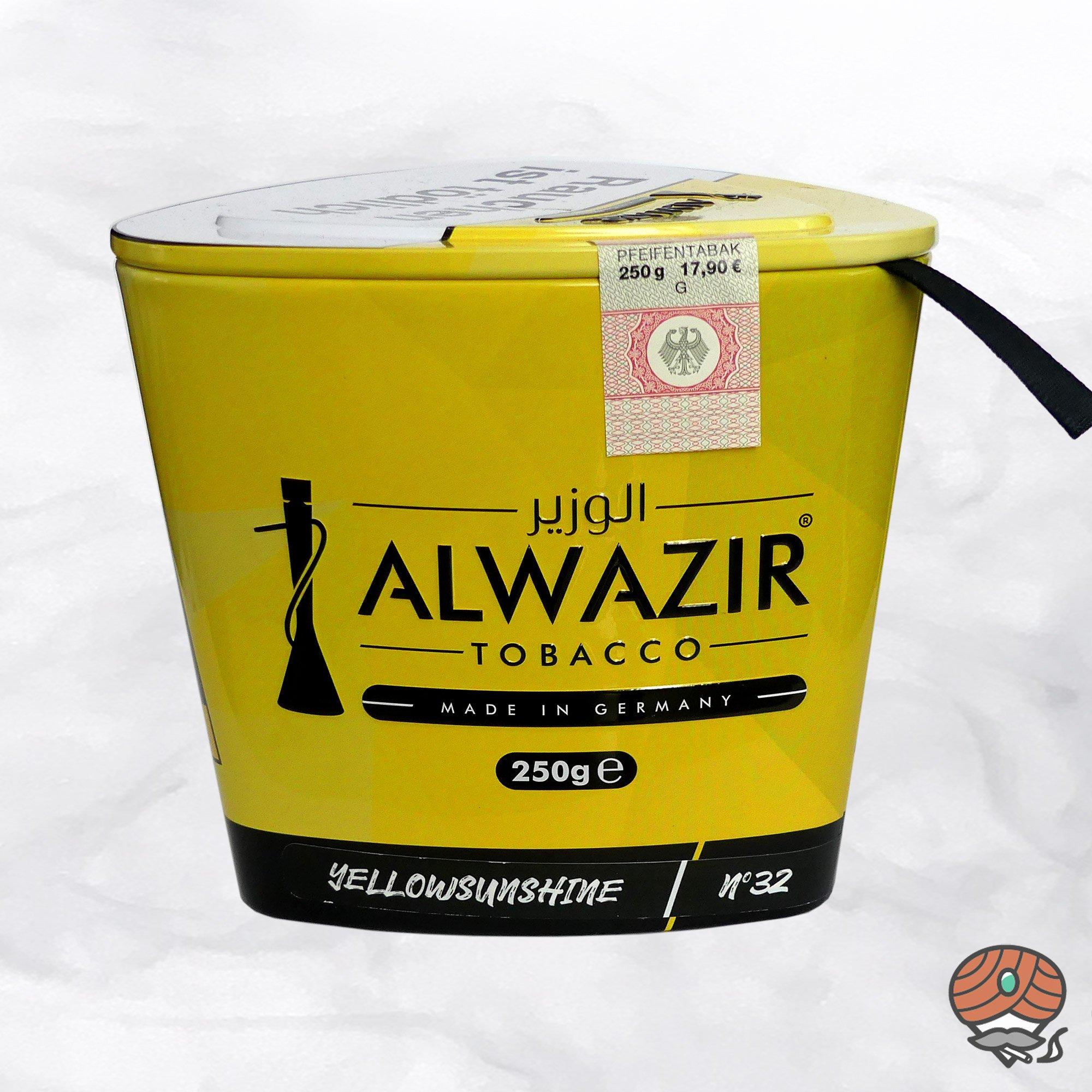 Alwazir Shisha Tabak - No. 32 - YELLOW SUNSHINE 250g