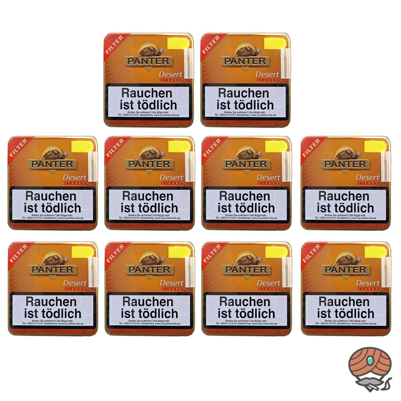 10 Dosen Panter Desert Filter Zigarillos à  20 Stück