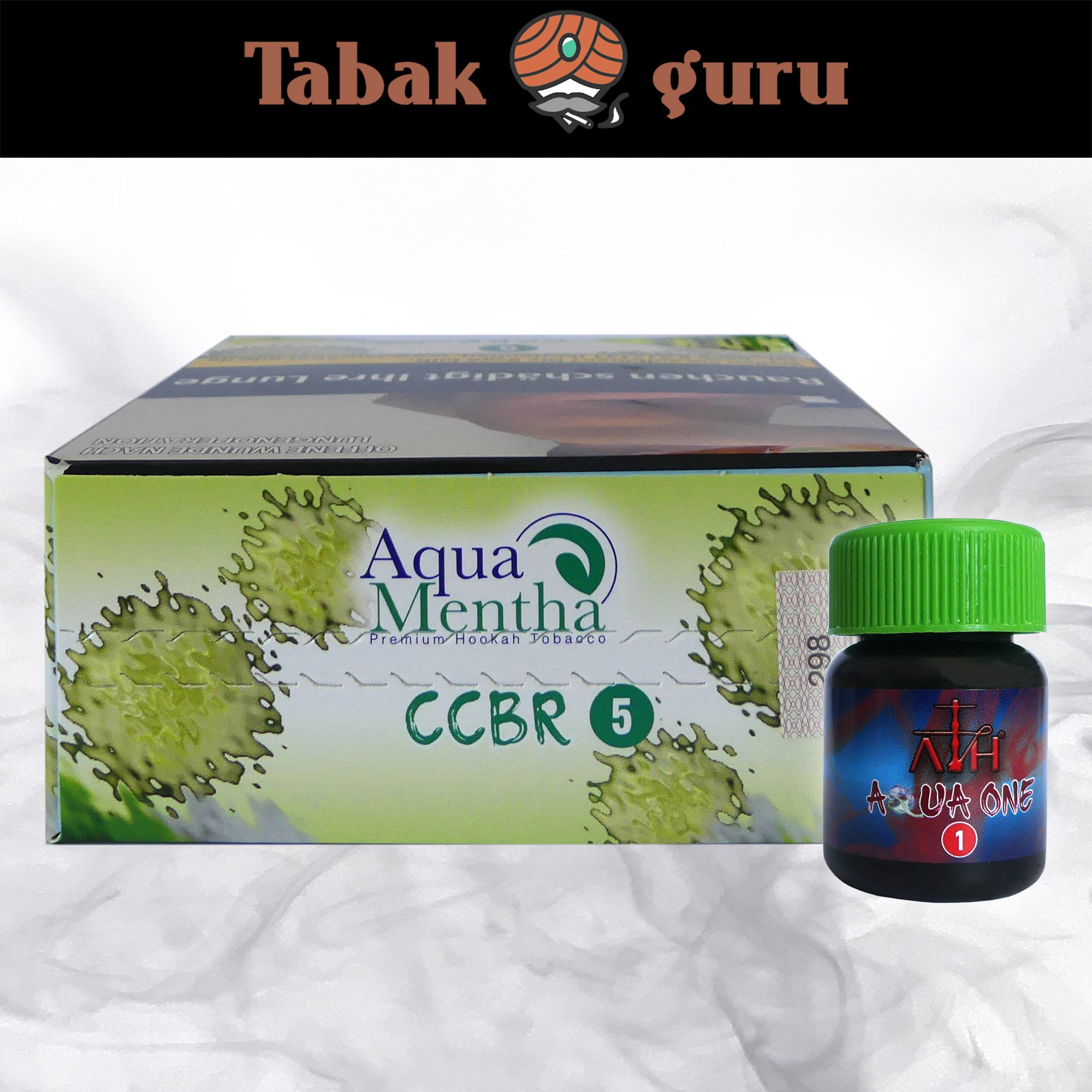 Aqua Mentha CCBR #5 (Gurke) 200g Shisha Tabak + ATH Aqua One Mix