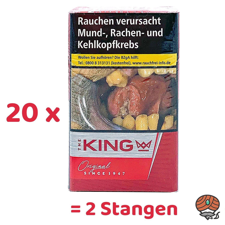 2 Stangen The KING Original Red / Rot Zigaretten 20x20 Stück