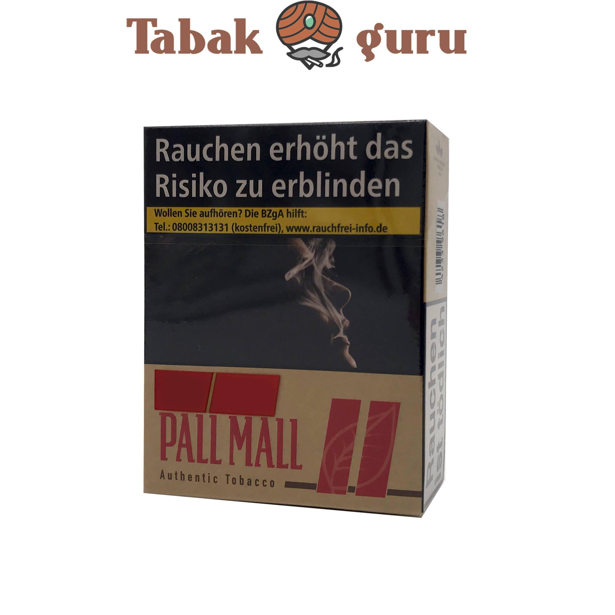 Pall Mall Authentic Red / Rot Zigaretten ohne Zusätze Giga (34 Stück)