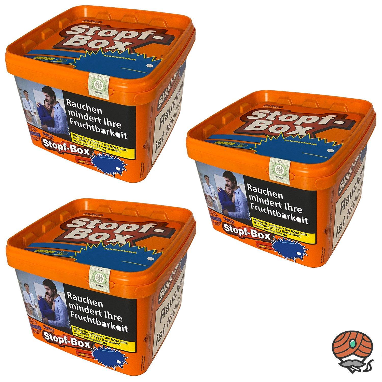 3x Fargo Stopf-Box Stopftabak / Volumentabak Eimer à 190 g