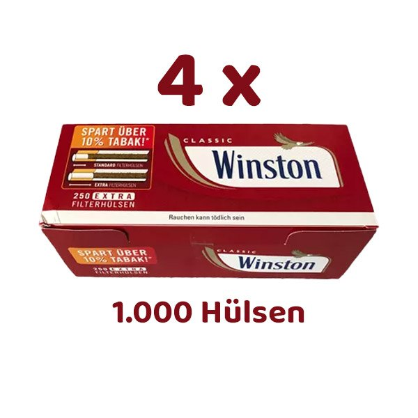 1000 Winston Extra Filterhülsen