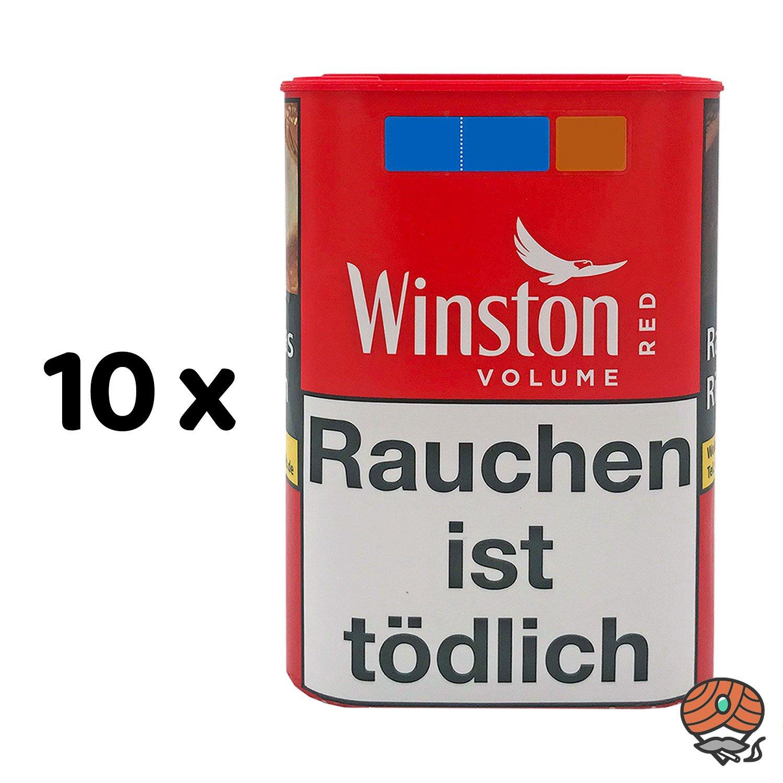 10 x Winston Red Zigarettentabak 45 g Dose