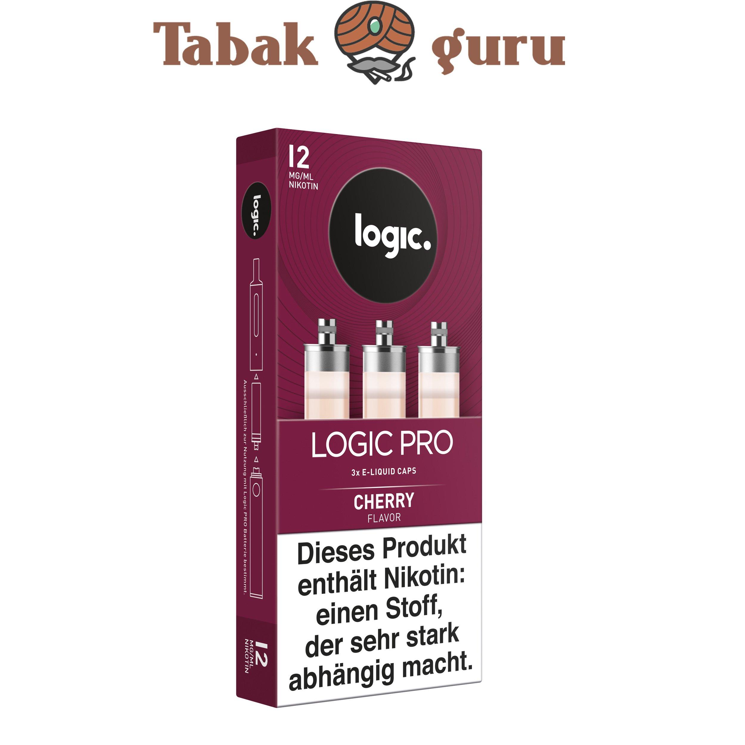 Logic Pro e-Liquid Caps Cherry Flavor 12 mg/ml Inhalt 3 Caps