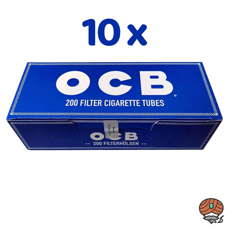 2.000 OCB King Size Filterhülsen = 10 Pack à 200 Stück