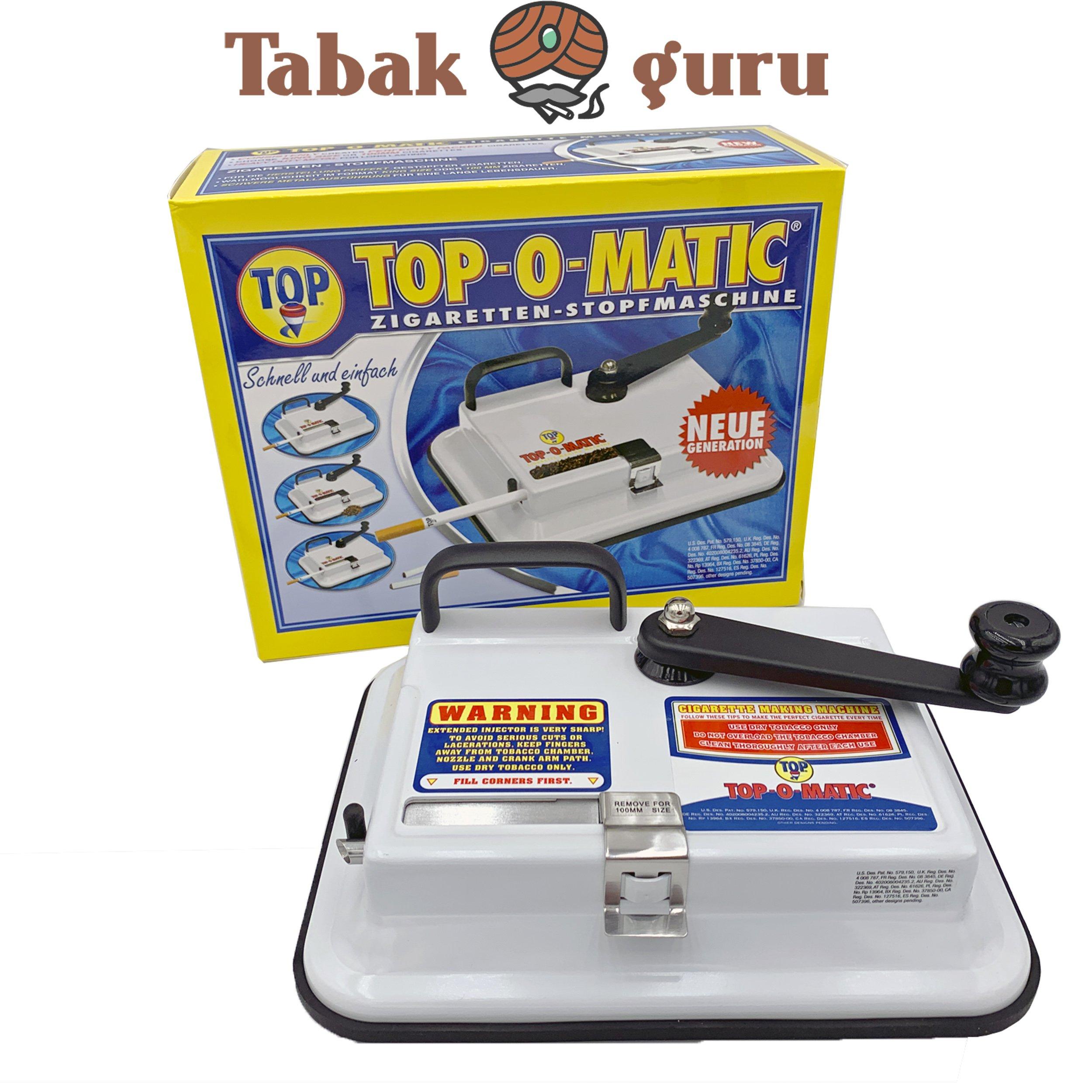 OCB TOP-O-MATIC Stopfmaschine Zigarettenstopfer Zigarettenmaschine TOP-O-MATIC