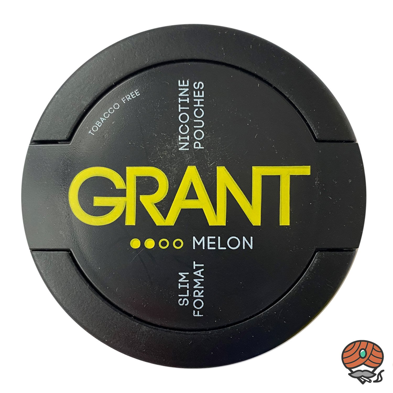 GRANT Melon Kautabak / Nicotine Pouches Slim Format Stärke 2