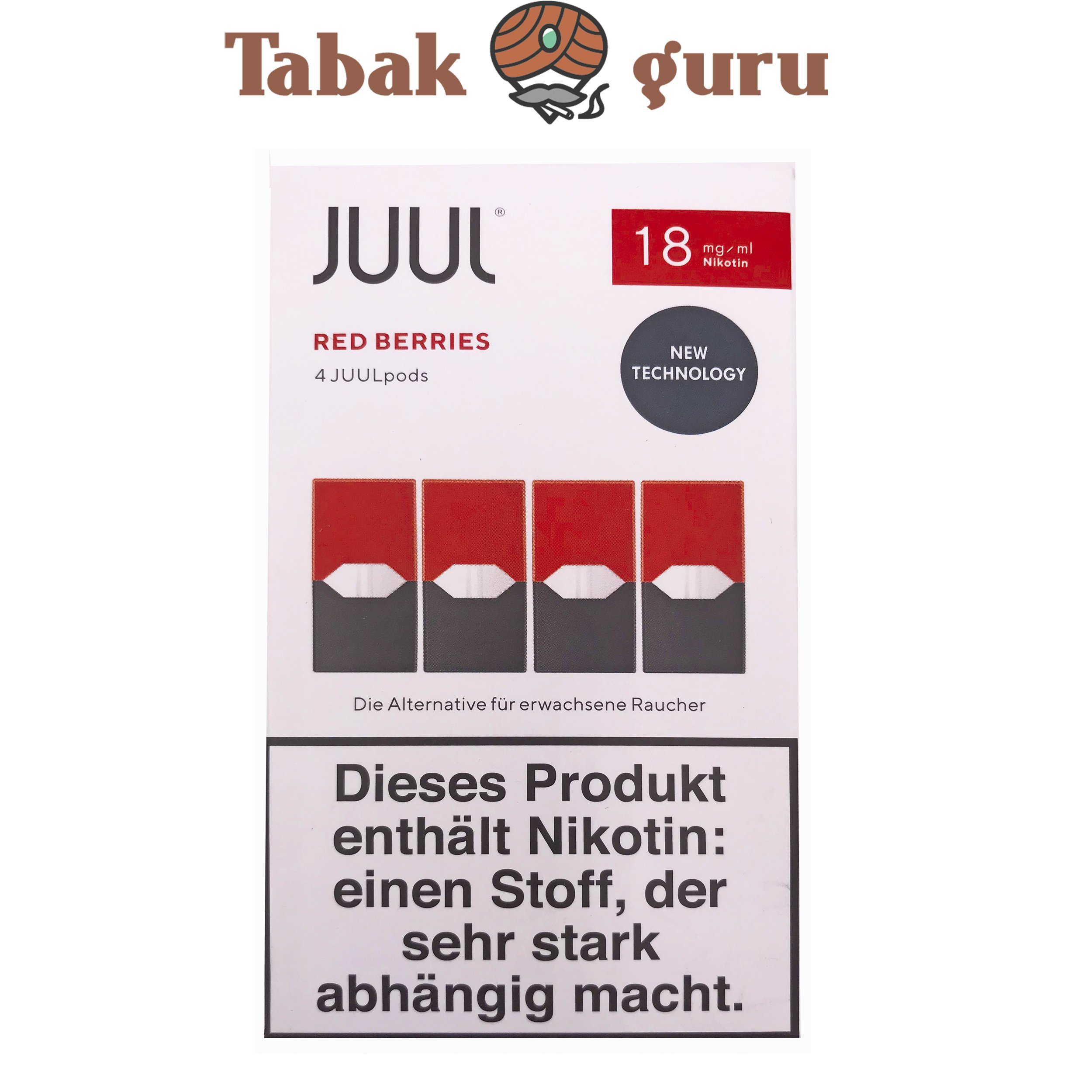 JUUL 6 Packungen Red Berries Pods 18mg/ml á 4 Pods