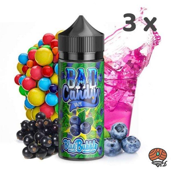 3 x BAD Candy Blue Bubble Vape Aroma 20 ml Longfill E-Liquid / Liquids