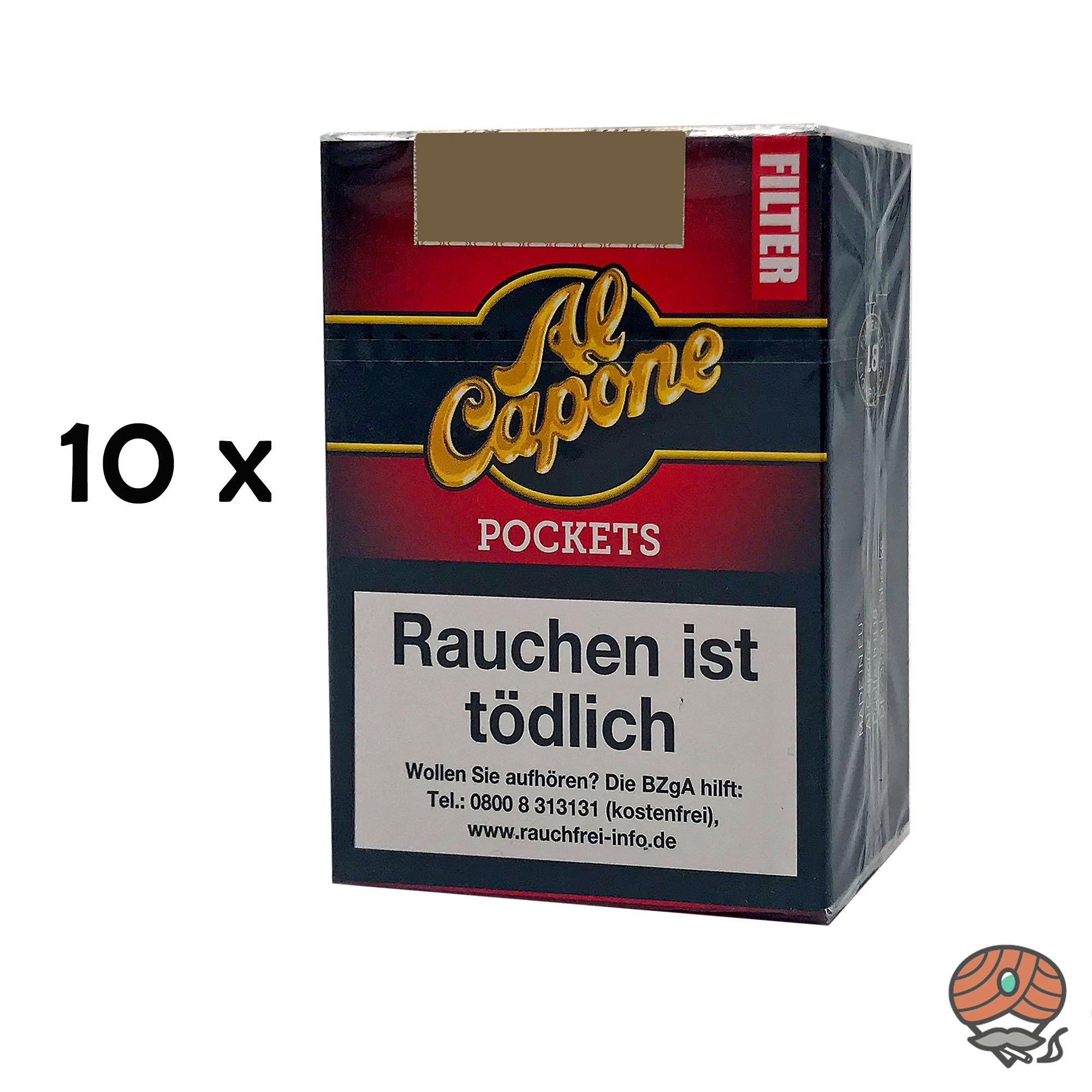 10 x Al Capone Pockets Red Blend Filterzigarillos