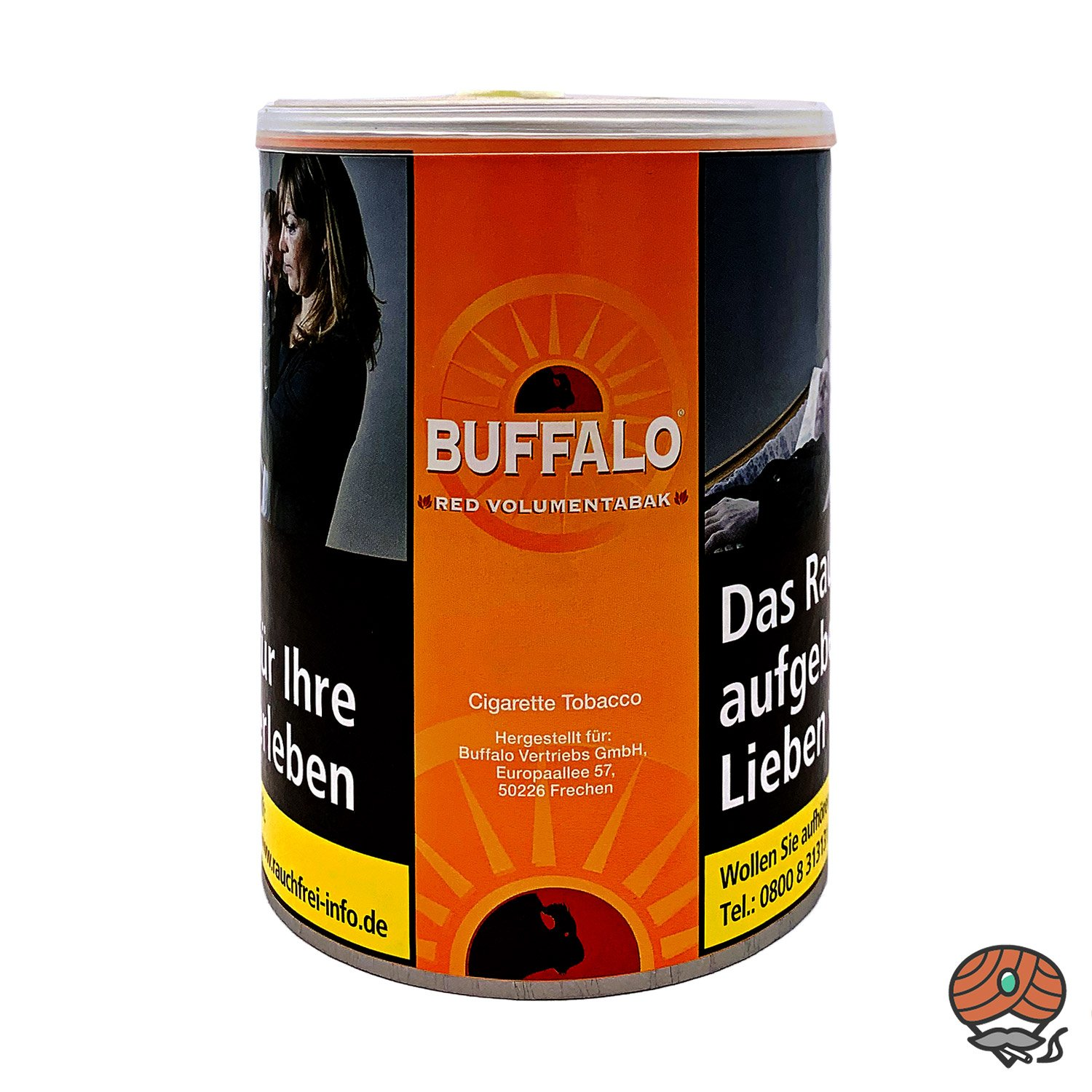 Buffalo Red / Rot Volumentabak 80g Dose