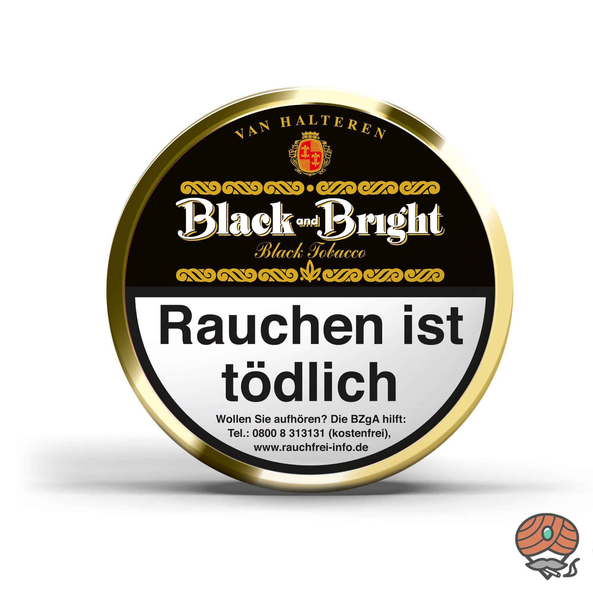 Van Halteren Black and Bright Pfeifentabak 100g Dose