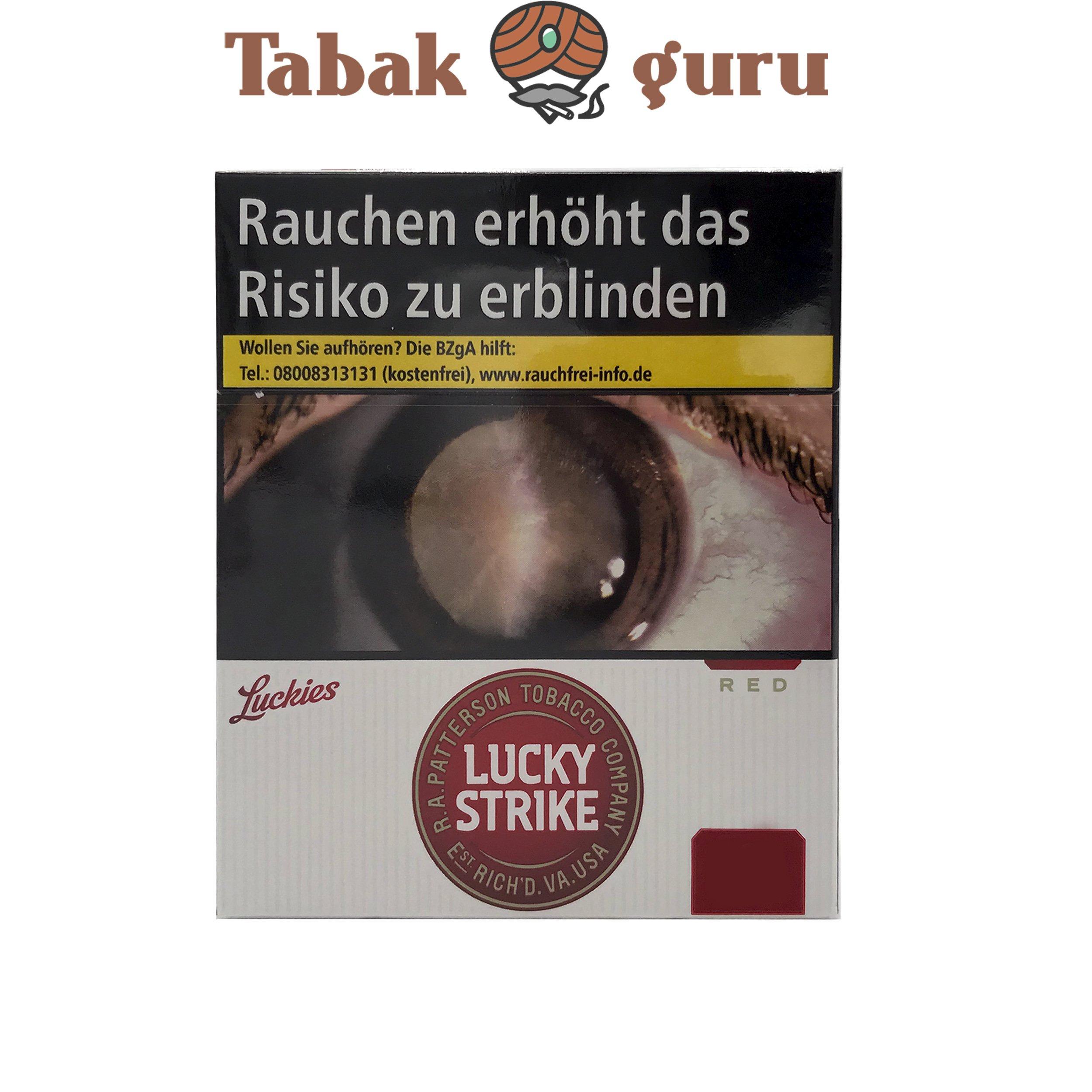 Lucky Strike Original Zigaretten Red Giga Box Inhalt 31 Stück