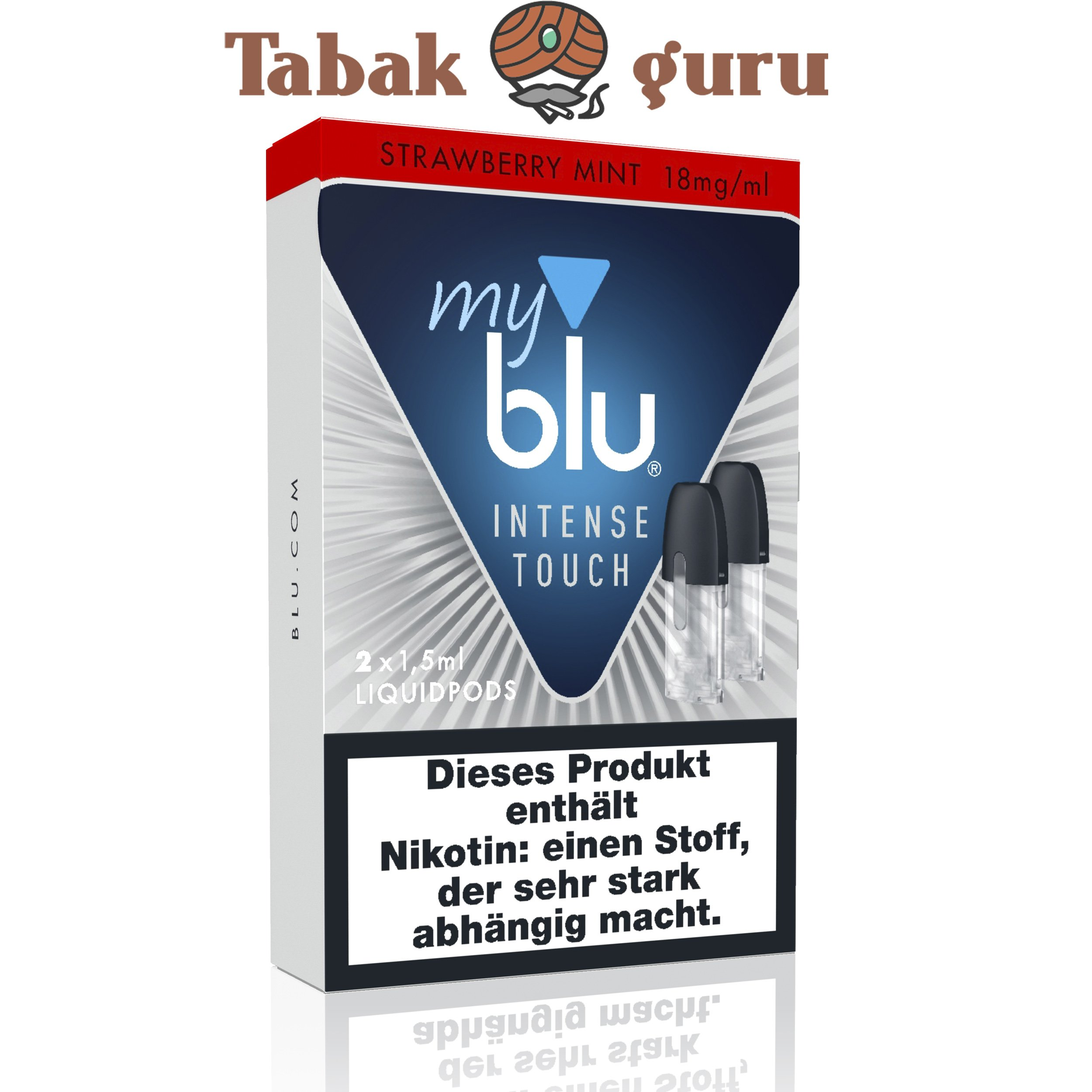 My Blu Intense Touch Nikotinsalz Liquid Pods Strawberry Mint 18 mg/ml