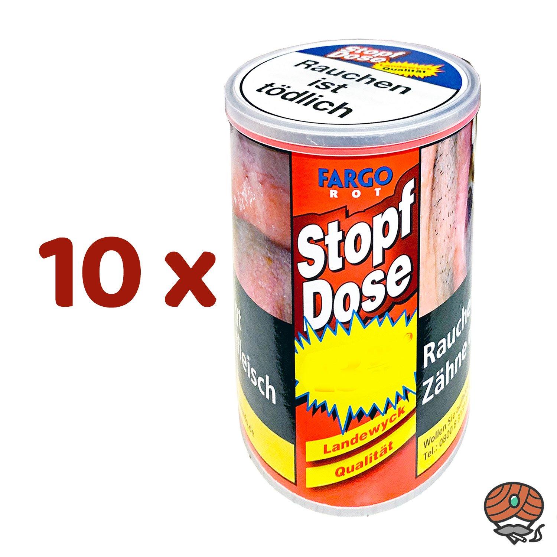 10 x Fargo Rot XXL Stopf-Dose à 140 g Feinschnitt-Tabak