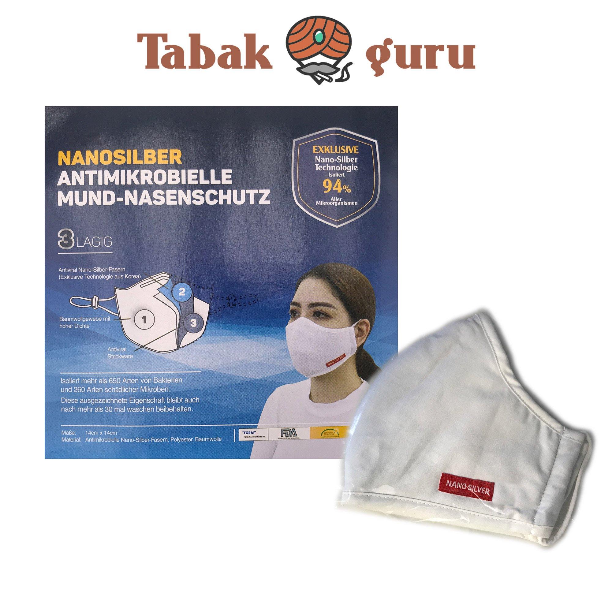 1x waschbare  Mundschutz Nasenschutz  Nanosilber 3 LAGIG Neu