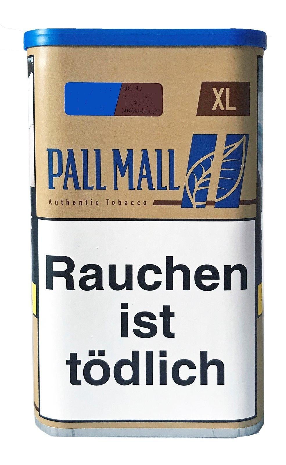 Pall Mall Authentic Blue / Blau XL Dose Zigarettentabak/Stopftabak Inhalt 60g