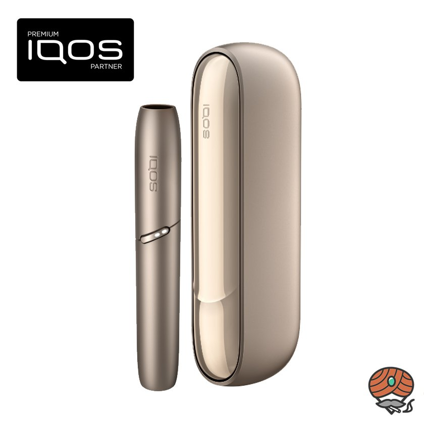 IQOS 3 Duo Kit Brilliant Gold (Gold) OHNE REGISTRIERUNG