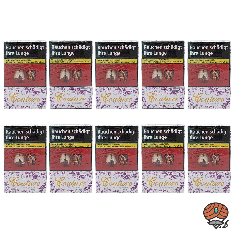 1 Stange Couture Purple Slim / Full Flavor Zigaretten 10x20 Stück
