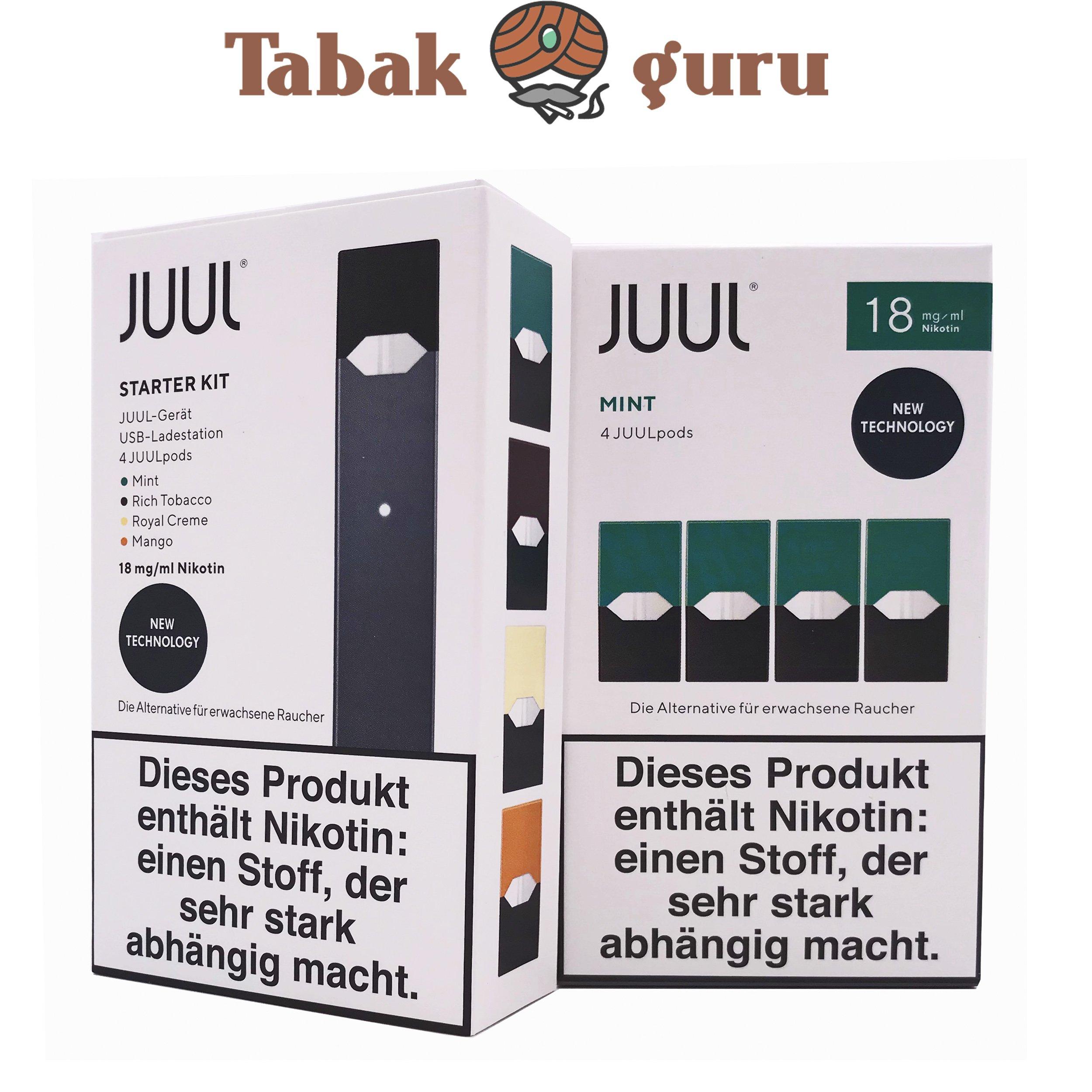 JUUL Starter-Kit mit 4 JUULpods Inkl. 4 JUULpods Mint 18mg