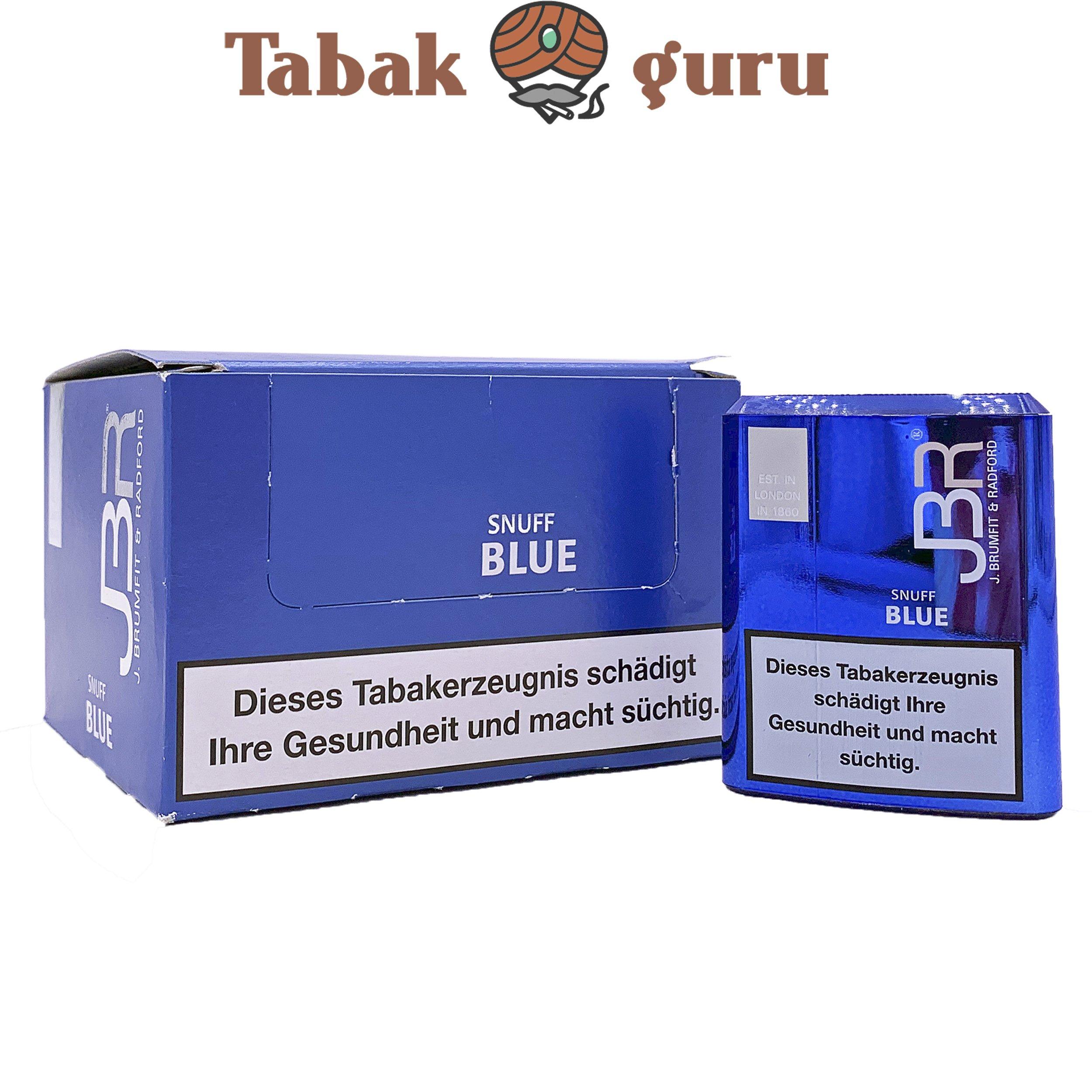 10 x JBR Blue Shnuff Schnupftabak