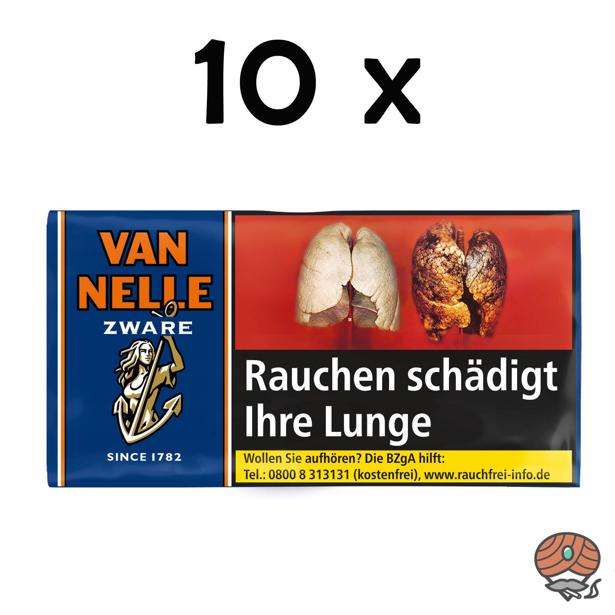 10x Van Nelle Zware Shag Drehtabak 30g Beutel