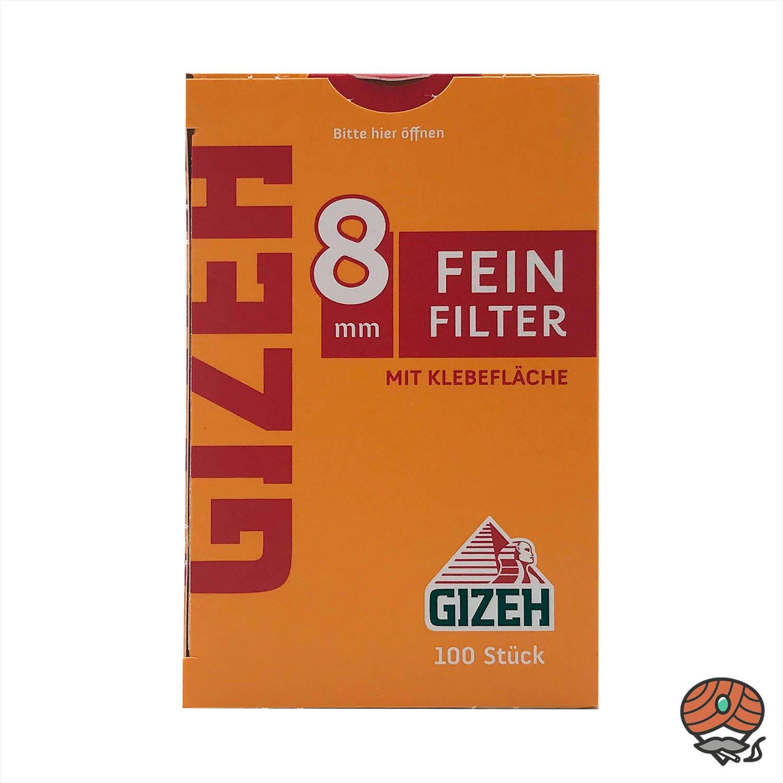 Gizeh Feinfilter 8 mm 1 Schachtel à 100 Feinfilter