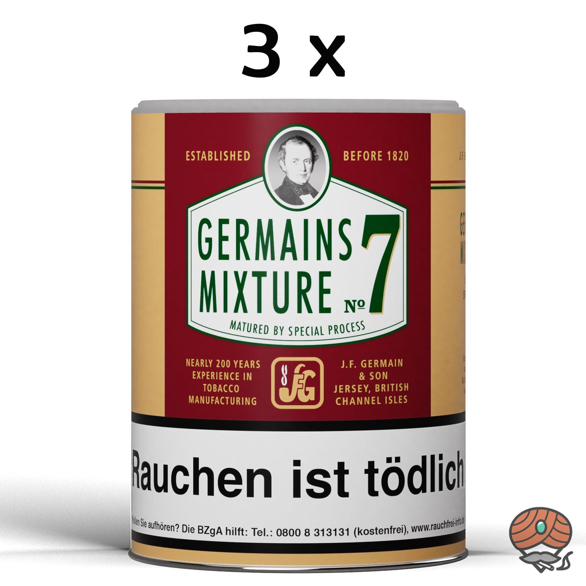 3 x Germain´s Mixture No.7 Pfeifentabak 200g Dosen