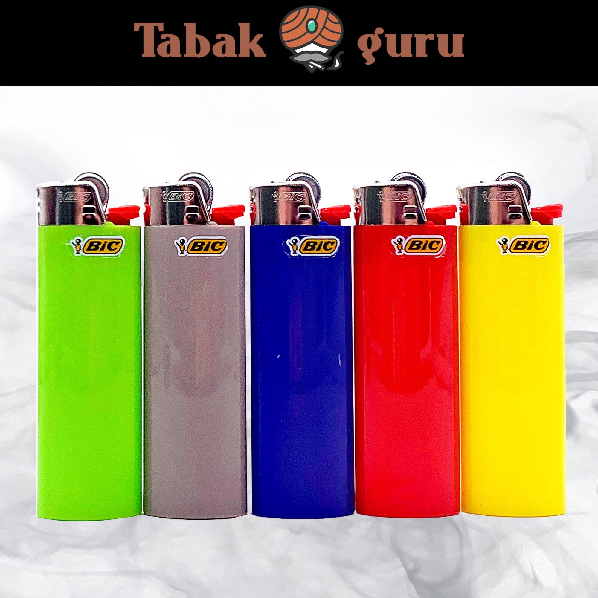 5 BIC Maxi Reibrad Feuerzeug verschiedene Farben nicht wählbar