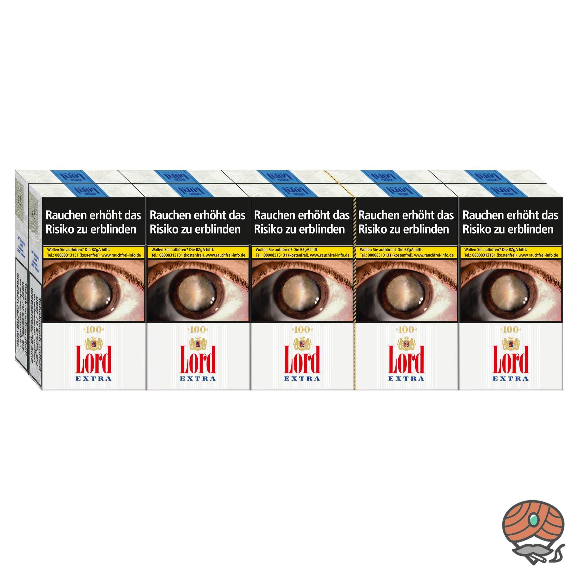 Stange Lord Extra Zigaretten L-Box King Size 10x 20 Stück