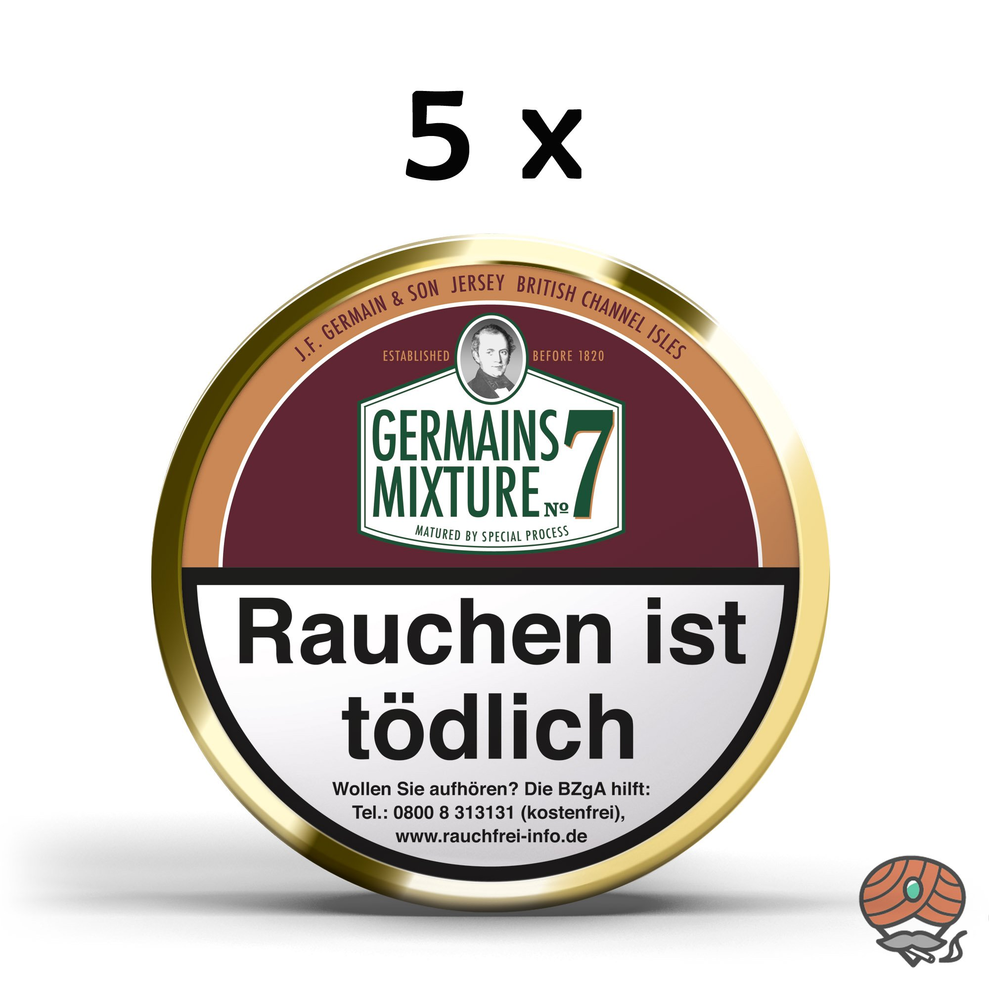 5x Germain´s Mixture No.7 Pfeifentabak 100g Dosen