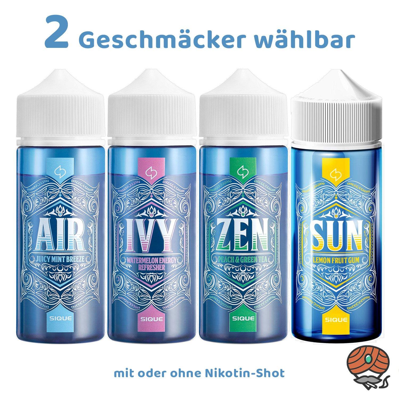2x SIQUE Berlin alle Sorten á 100 ml mit oder ohne Shot erhältlich