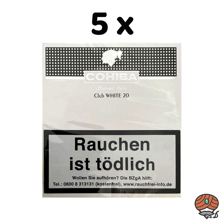 5 x Cohiba Club WHITE Zigarillos à 20 Stück