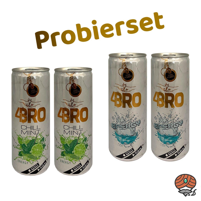 4BRO Energy Drink 4er PROBIERSET 4 x 250 ml (inkl. Pfand)