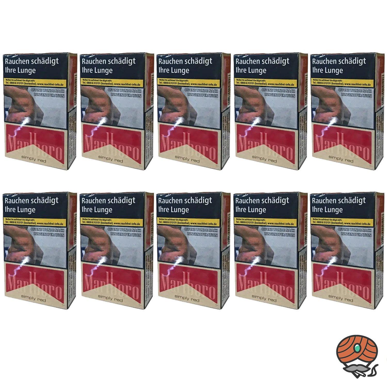 Stange Marlboro Simply Red Zigaretten OP Schachtel 10x20 Stück