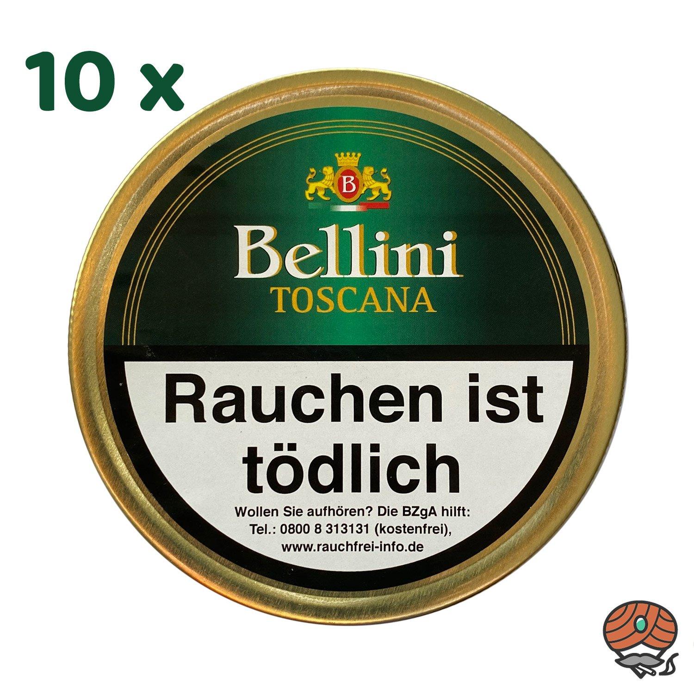 10 x Bellini Toscana Pfeifentabak 50 g Dose