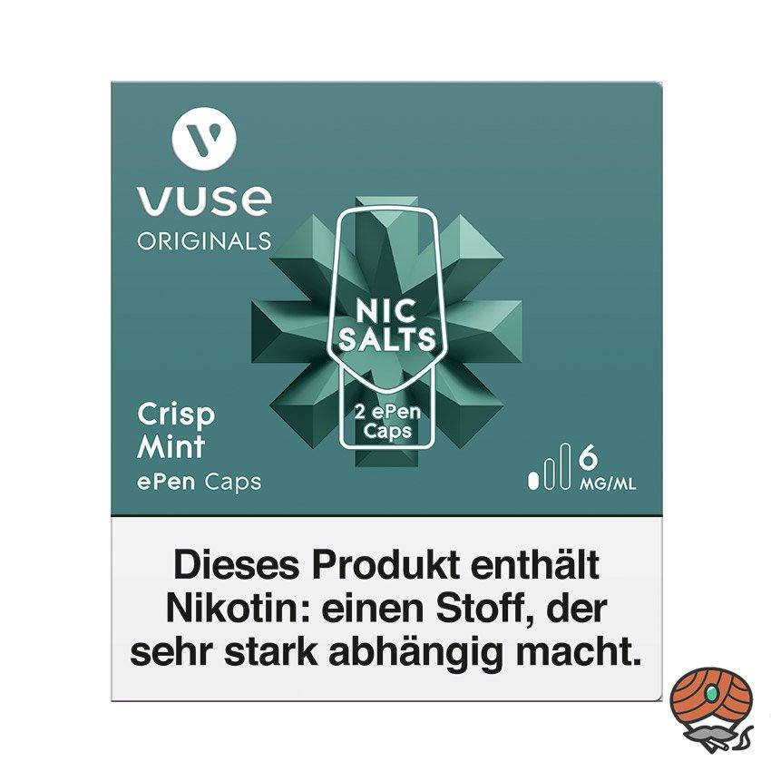 Vuse ePen Caps 1x Crisp Mint 6 mg/ml á 2 Caps (ehem. Vype ePen3 Crushed Mint)