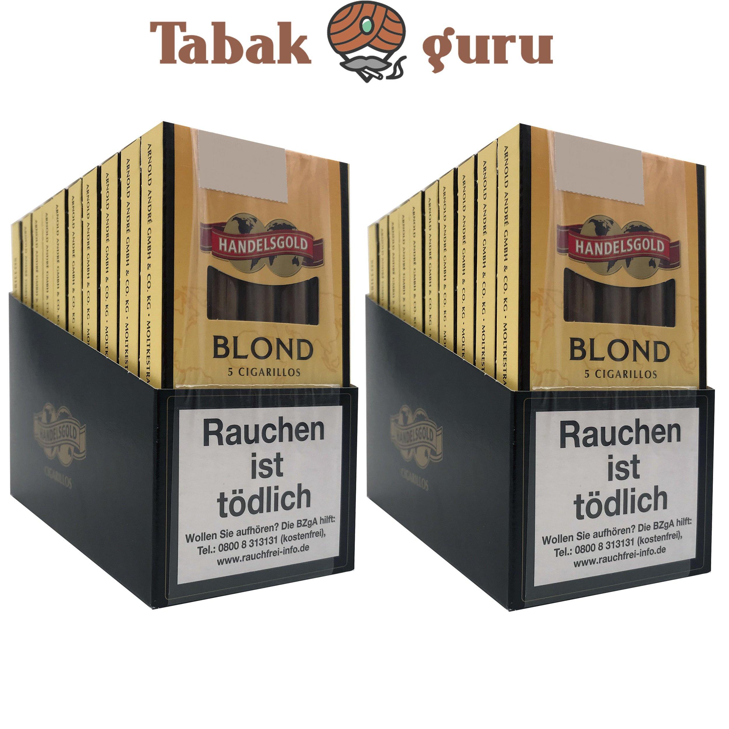20x Handelsgold No. 211 Blond Filterzigarillos à 5 Stück