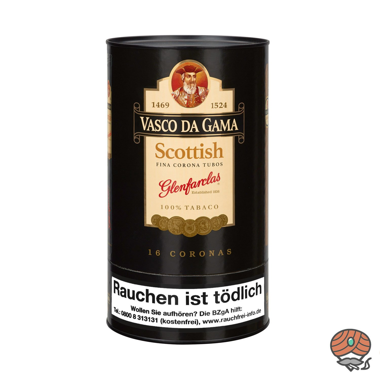 Vasco da Gama Corona Scottish (Whisky) Nr. 85 Zigarren, 16 Stück