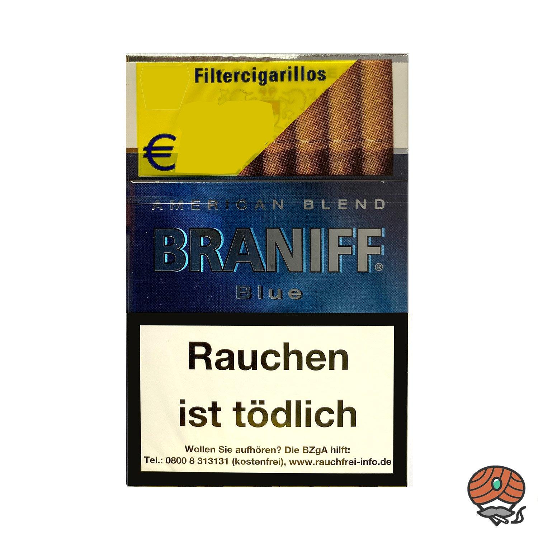 Braniff Blue Filterzigarillos á 17 Stück